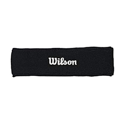 Wilson WR5600170 Fascia da Tennis, in Spugna, Taglia Unica, Nero
