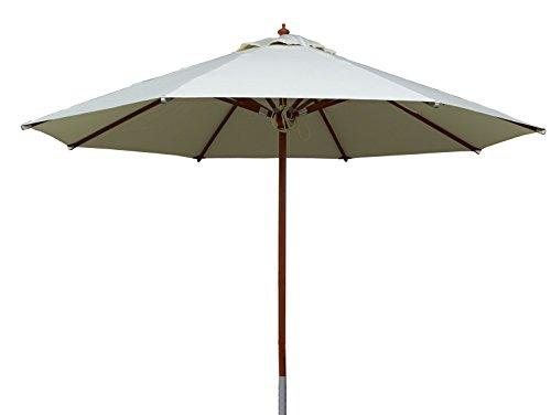 4. TTPM Sonnenschirm aus Holz 3,5m rund