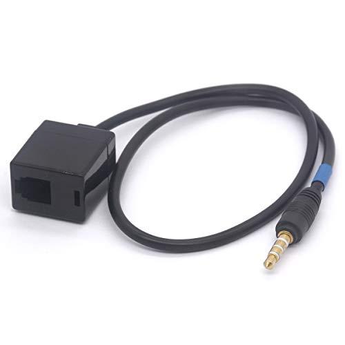 Auriculares Buddy RJ9 4P4C hembra a 3,5 mm macho cable adaptador de teléfono celular para Cisco, Avaya teléfono 40 cm