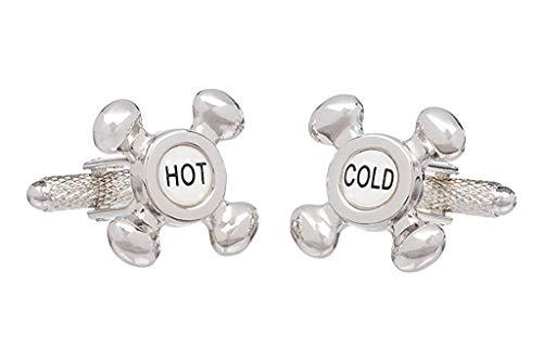 Robinet Hot Et Cold Onyx Art Boutons de manchette Coffret cadeau Boutons de manchette