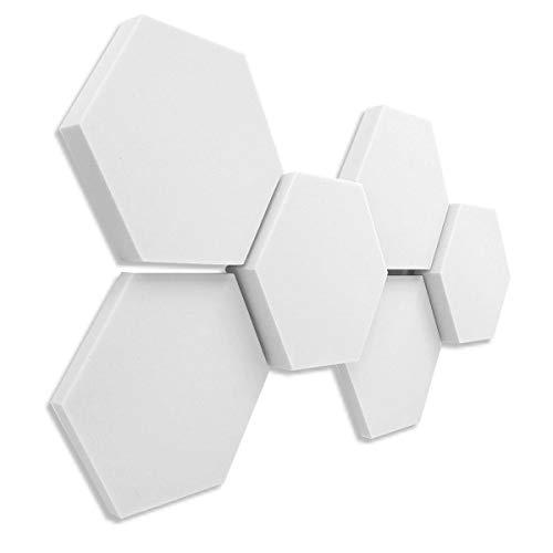 3D-Set Hexagon Akustik Elemente aus Basotect  G+  Schallabsorber - platino24  - Qualitäts-Schalldämmung