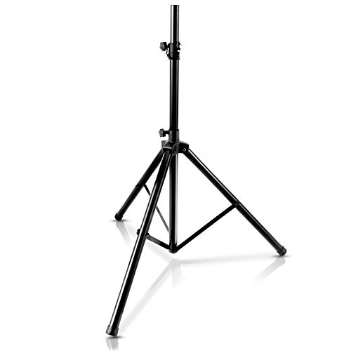 Pyle Universal Speaker Tripod Stand Mount - 6' Sound Equipment Holder Height Adjustable Up to 70 Inches For Speakers w/ 35mm Compatible Insert Perfect for Home, On Stage or In Studio Use - PSTND25