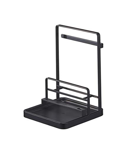 Yamazaki Home Tower Cooking Tool and Lid Station Kitchen Storage and Organization Product Accessories, One Size, Black