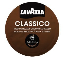 Lavazza Classico, Espresso, 18- 0.26 oz (Packs of 4) for Keurig Rivo Systems by Lavazza [Foods]
