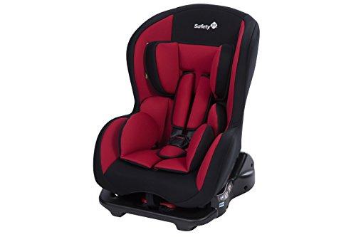 Safety 1st Kindersitz Sweet Safe, mitwachsender Autositz der Gruppe 0/1 (0 - 18 kg), weich gepolstert und inkl. 5-Punkt-Gurt, nutzbar ab der Geburt bis ca. 4 Jahre, full red