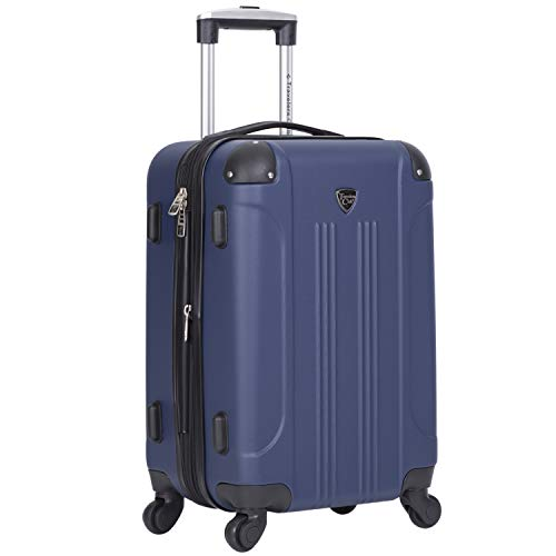 Travelers Club 20' Chicago Expandable Spinner Carry-On Luggage, Cobalt Blue