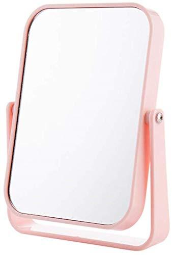 LHY- Maquillage Miroir Miroir Double Face Miroir Pliant Dortoir Artifact Bureau Cadre Dressing Princesse Miroir La Mode (Color : Pink)