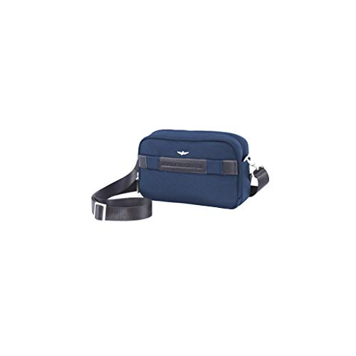 Aeronautica Militare Pochette Man pouch with shoulder strap and wrist strap color BLUE
