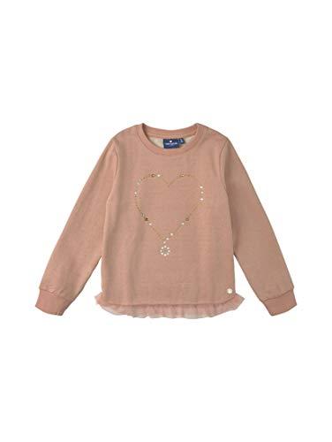 TOM TAILOR Mädchen Strick & Sweatshirts Sweatshirt mit Tüllbesatz original|Multicolored,104/110