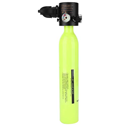MIni Tauchflasche 0.5L Sauerstoffflasche Tauchen Scuba Diving Sauerstofftank Pressluftflasche Taucherausrüstung für Unterwassertauchen & Atemtraining(Grün)