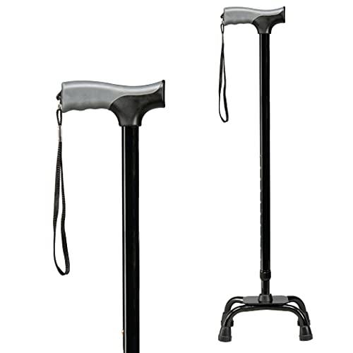 carex health brands canes Carex Health Brands Soft Grip Quad Cane, Black