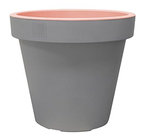 geli Thermo Plastic E & K vaso vaso per piante, vaso da fiori in plastica grigio chiaro