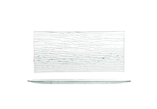 H&H Bambú, Plato, rectangular, 26 x 12 cm, Vidrio, 1 unidad