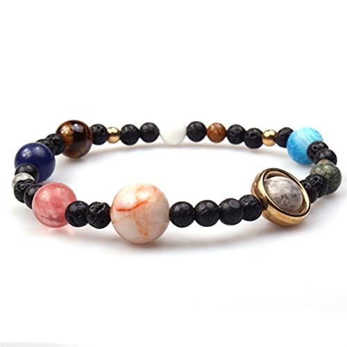 JKLJKL Bracelets Pulsera Ajustable Pulsera de Piedra Natural Regalo de Las Cuentas Pulsera (Metal Color : B6047)