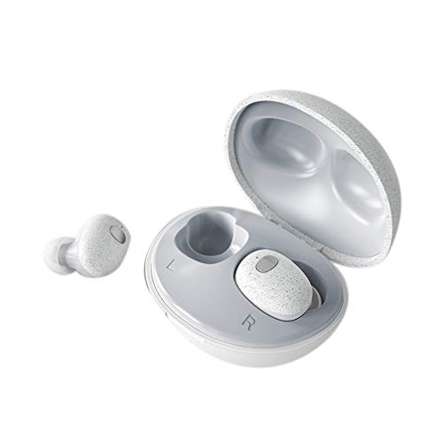 J.W. Echte Drahtlose TWS Bluetooth-Kopfhörer, Mini-Kopfsteinpflaster Realtek Single Touch wasserdichte Stereo-Musik-Sport-Gym-Freisprech-Ohrhörer Mit 500-Mah-Ladekoffer
