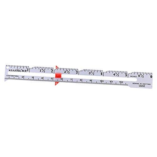 Regla medidora de 15 cm con marcador deslizante ajustable para costura, acolchado, manualidades, herramienta de medición