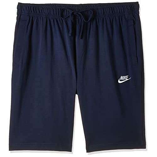 Nike Sportswear Club Fleece M, Pantaloncini Uomo, Blu (Midnight Navy/White), S