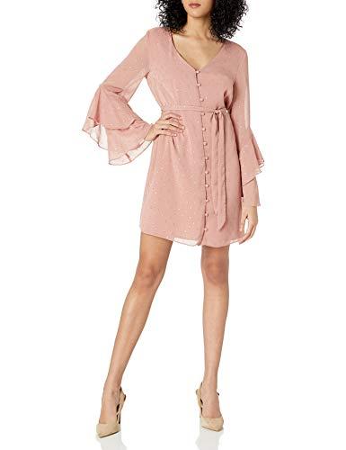 cupcakes and cashmere Women's Keegan Metallic Dot Chiffon Dress with...
