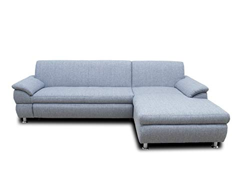 DOMO Collection Ecksofa Bounty | L-Form Eckcouch | 266x172x82 cm | Wohnlandschaft Polsterecke Sofa Garnitur in grau