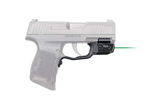 Crimson Trace LG-422G Laserguards with Green Laser, Heavy Duty Construction and Instinctive Activation for Sig Sauer P365 Pistol, Defensive Shooting and Competition