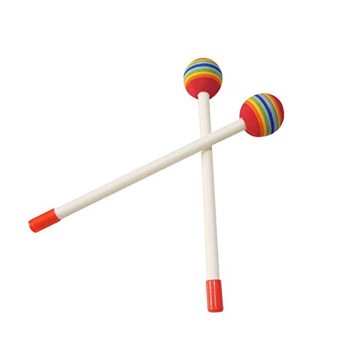 Brave669 Learning & Education Toys, 2Pcs/Set Lollipop Head Wooden Hand Percussion Drum Mallets Children Music Toy,Best Gift for Your Child
