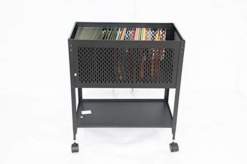 Hanging File Folder Cart on Wheels Filing Rolling Storage Organizer Cabinet Letter Heavy DutySteel Open Top Metal Portable & eBook