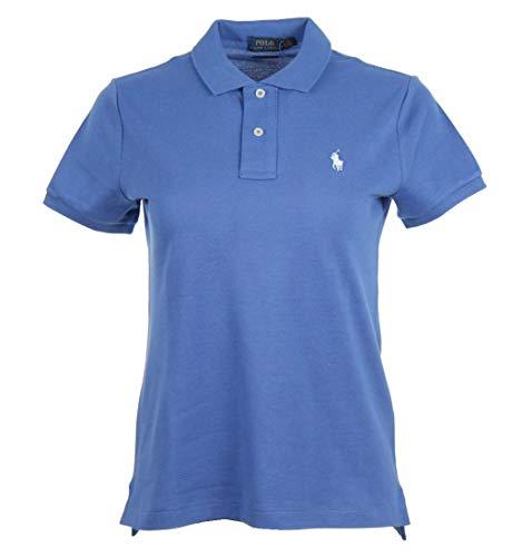 Ralph Lauren Skinny Fit Dames Polo - Blauw met wit logo