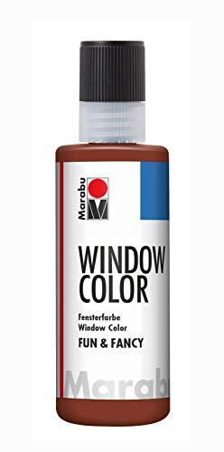 Marabu 04060004046 Window Color fun & fancy, colore trasparente a base d'acqua, rimovibile su superfici lisce come vetro, specchi, piastrelle e pellicola, 80 ml, blu medio