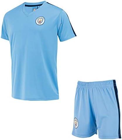 Manchester City Conjunto Camiseta + Pantalones Cortos Colección Oficial para Niño