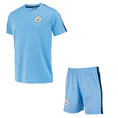 Manchester City Minikit Trikot + Shorts Offizielle Sammlung - Junge Kindergröße 6 Jahre