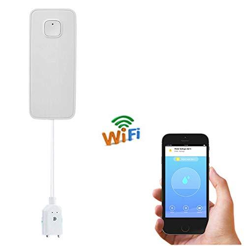 ZSLGOGO Alarma de Fugas de Agua WiFi, Detector de Fugas de Agua inalámbrico, Alerta de Fugas de la aplicación Inteligente, Sensor de Agua inalámbrico con notificación, Fuga de Monitor Remoto