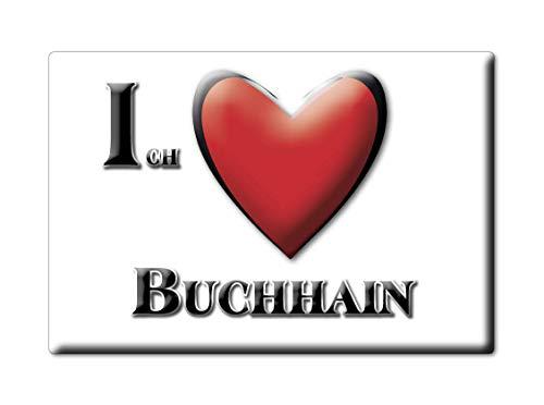 Enjoymagnets BUCHHAIN (BB) Souvenir Deutschland Brandenburg Fridge Magnet KÜHLSCHRANK Magnet ICH Liebe I Love