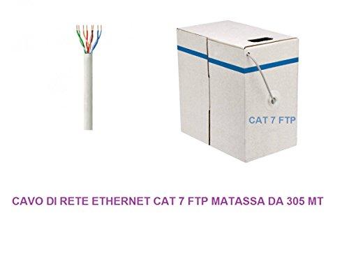 MATASSA 305 MT METER kabel FTP CAT 7 LAN ETHERNET M BOBINA INTERNET ADSL PLUG MODEM ROUTER ACCESS POINT REAPETER
