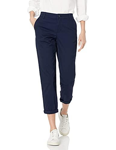 Amazon Essentials Cropped Girlfriend Chino Pant (Plus + Missy) Pantaloni, Blu Marino, 46