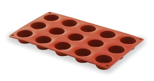 Lacor - 66827 - Molde Petit Four 15 Cavidades Silicona - Rojo