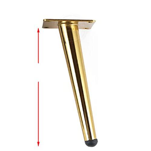 10-35CM Pata de soporte de metal para muebles Patas de nivelación cónicas doradas para sofás Sillas Armario Armario cama protector de piernas almohadilla Hardware-10cm oblicuo 1
