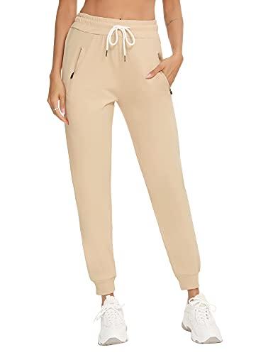 Doaraha Pantalones Chandal Mujer Largo Pantalon de Deporte con Cordón Pantalón Deportivo con Bolsillos Conciso y Generoso