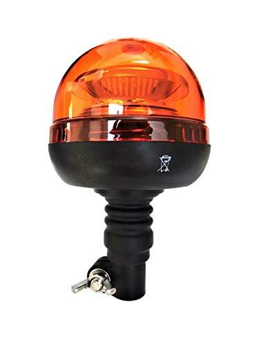 Orange LED Rundumleuchte Warnleuchte 45 LED 12V 24V R65 R10 E9 doppelter Blitz