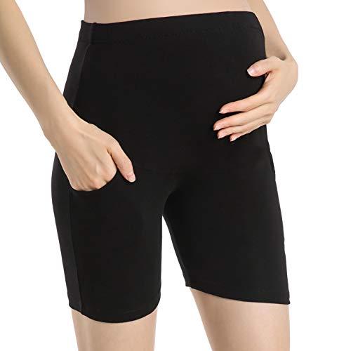 Ferrieswheel Story Umstands Leggins Damen Hose Umstandsmode Sport Shorts Schwangerschaft Taschen