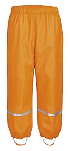 Crivit lupilu Kinder Regenhose gefüttert mit warmem Fleece Matschhose Buddelhose Mädchen Jungen (86/92, orange)