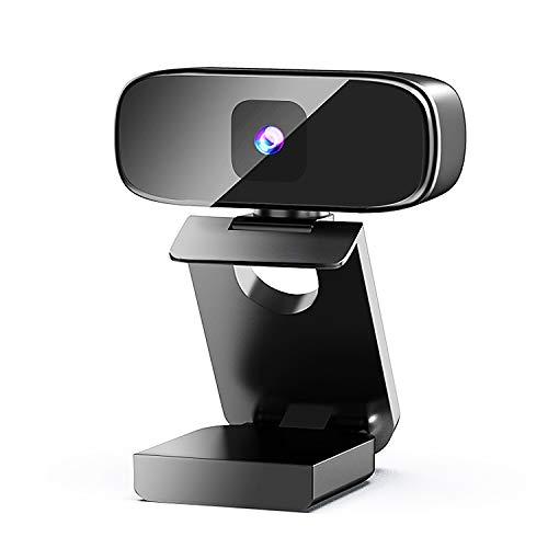 RHESHINE Webcam 1080P mit Mikrofon, PC Laptop Desktop USB 2.0 Full HD Webkamera für Videoanrufe, Studieren, Konferenzen, Aufzeichnen, Spielen mit drehbarem Clip, schwarz