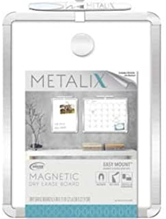 Metalix Magnetic Dry Erase Silver Board 8.5 x 11 Inches Board Dudes