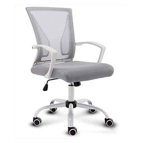ZLQBHJ Bürostühle, Bürostühle Home Büro Schreibtischstühle Ergonomischer Schreibtischstuhl Mesh Computerstuhl mit Lendenunterstützung Armlehne Executive Rolling Swivel-verstellbarer mittlerer Rücken-T
