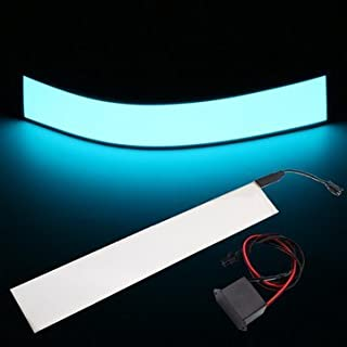 C-FUNN 12X2 Pulgadas 12V Cinta Electroluminiscente Flexible Panel El Retroiluminación Decoraciones Luz con Inversor - Blanco