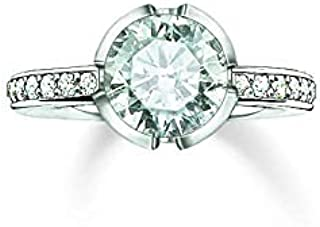 Thomas Sabo Women's Ring TR2035Silver Pave Cubic Zirconia 925Sterling Silver White Silver White