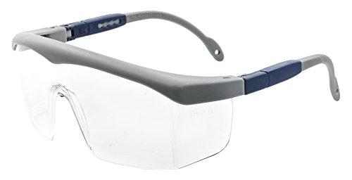 PEGASO 43.9-Gafas Proteccion Gama Anti-Impact Modelo Basic 7 Lente PC Incolora Antivaho, Gris Y Azul, L