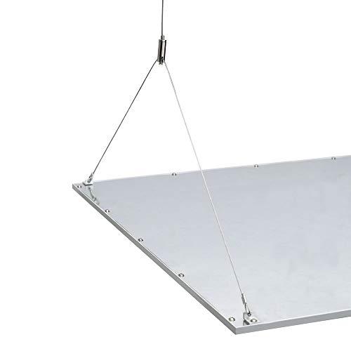 Biard Kit de Montaje con Cables de Suspensión para Estructuras Paneles LED de Techo 600 x...