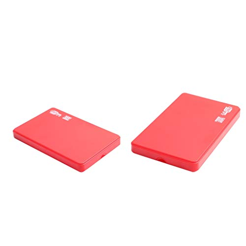 P Prettyia 2X Disco Duro Externo Rojo Almacenamiento HDD Portátil USB 3.0 Apto para PC, Computadora Portátil, 2T