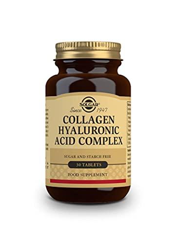 Solgar Ácido Hialurónico Complex, Prevención Del Envejecimiento, Reparación De Piel Apagada Y Deshidratada, Contiene Vitamina C, 30 Comprimidos, 100 g