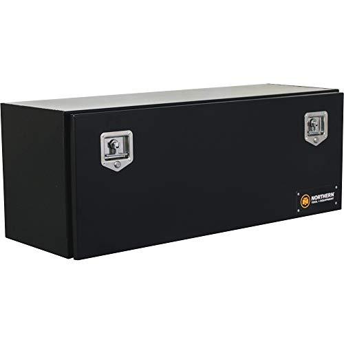 Northern Tool Underbody Truck Tool Box with Drop Door - Steel, Gloss Black, T-Handle Latches, 60in. x 17in. x 18in, Model# 36210329